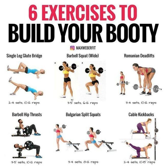 A Personal Trainer Reveals the 6 Best Exercises to Build a Booty