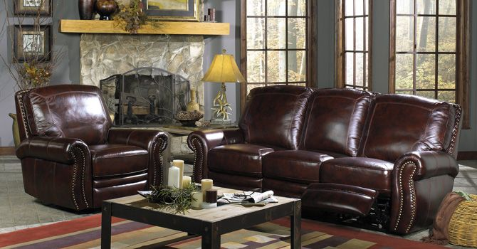 Craftmaster Top Grain Leather Match Power Dual Reclining