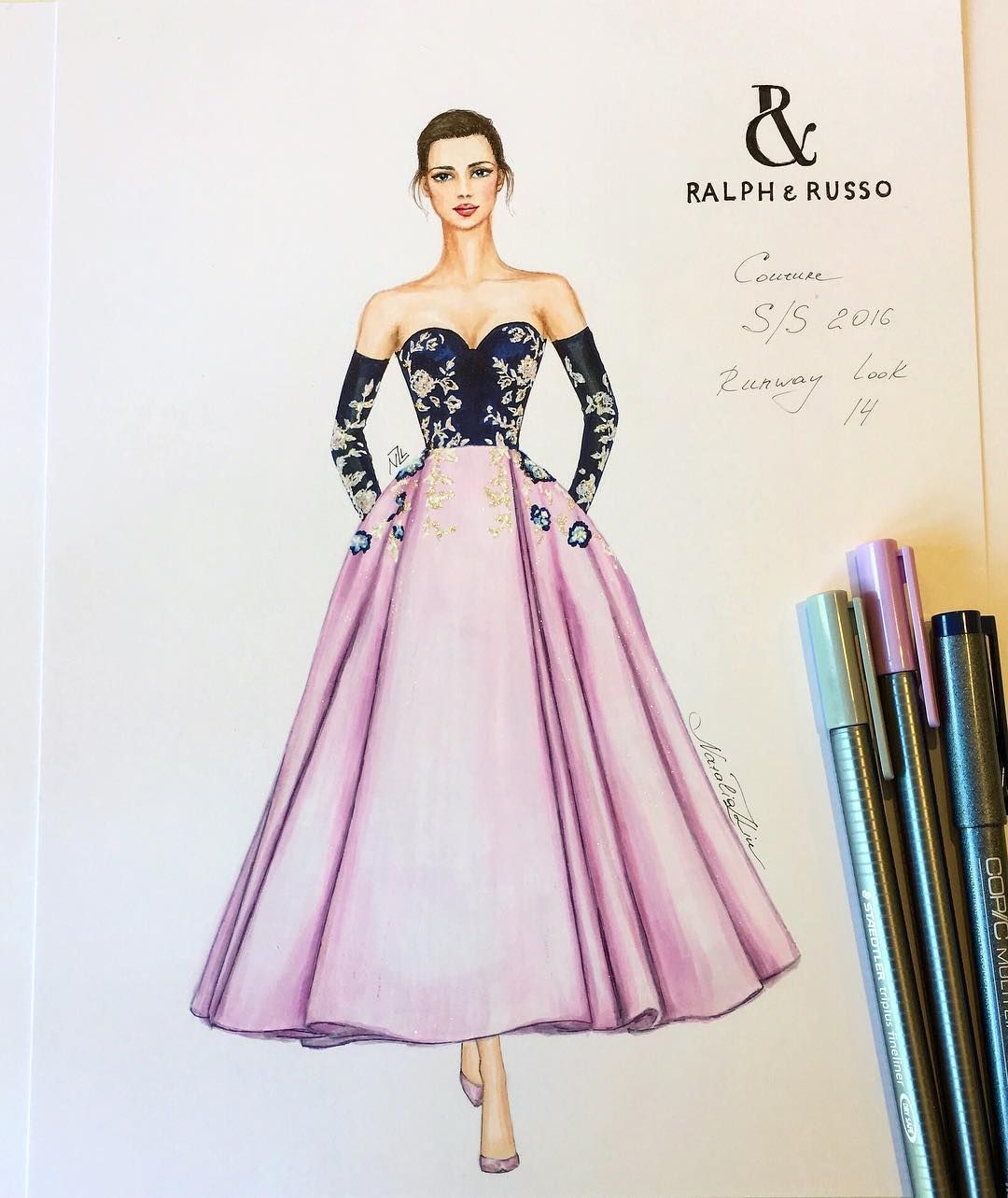 Black And Rose Amazing Fashion Drawing Dresses Fashion Sketches Dresses Dress Sketches