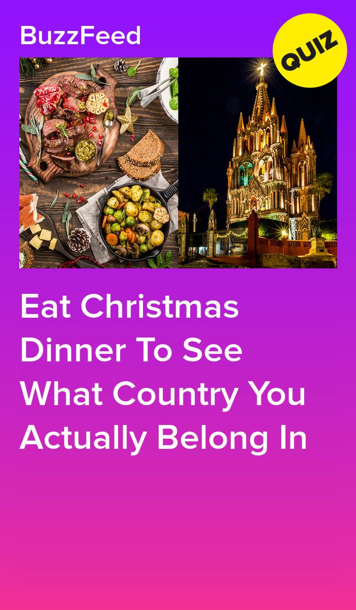 Eat Christmas Dinner To See What Country You Actually