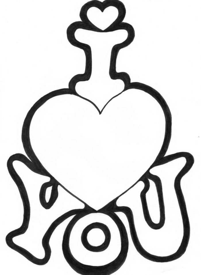 I Love You Valentines Coloring Sheet | coloring pages | Pinterest ...