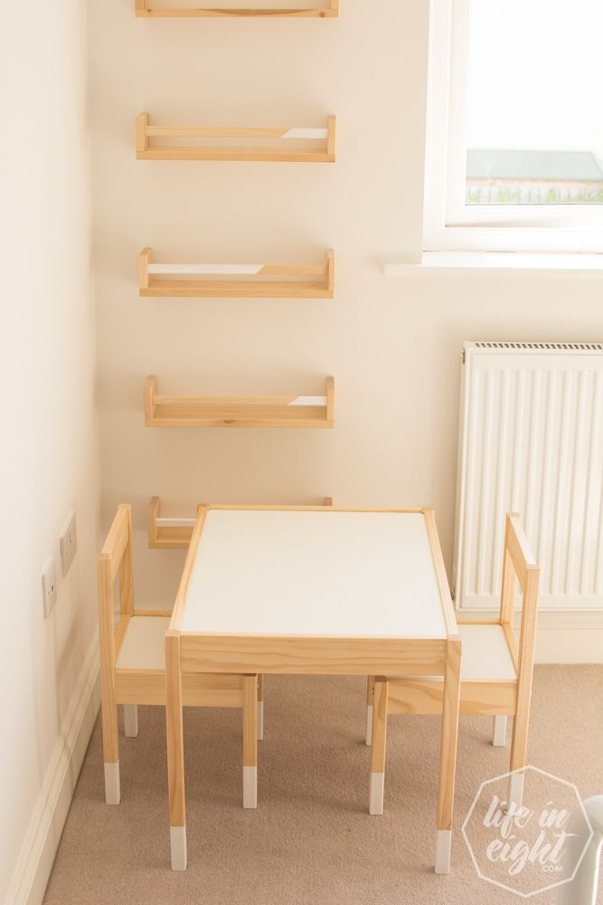How to Up-cycle and Protect Ikea Kids Table, Chairs and Spice Racks ...