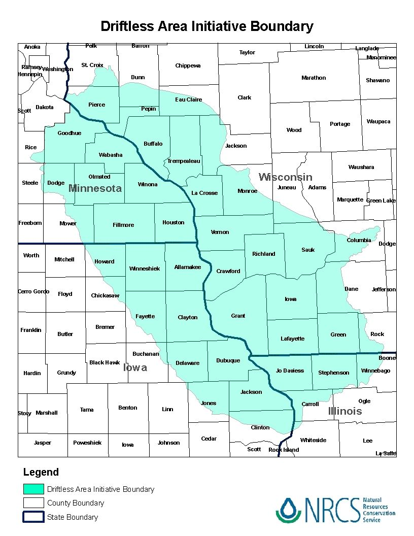23 Counties In Southwestern Wisconsin 10 Counties In Southeastern Minnesota 12 Counties In ...
