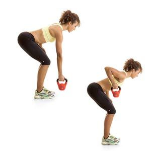 total body toning with kettlebells  kettlebell squat and
