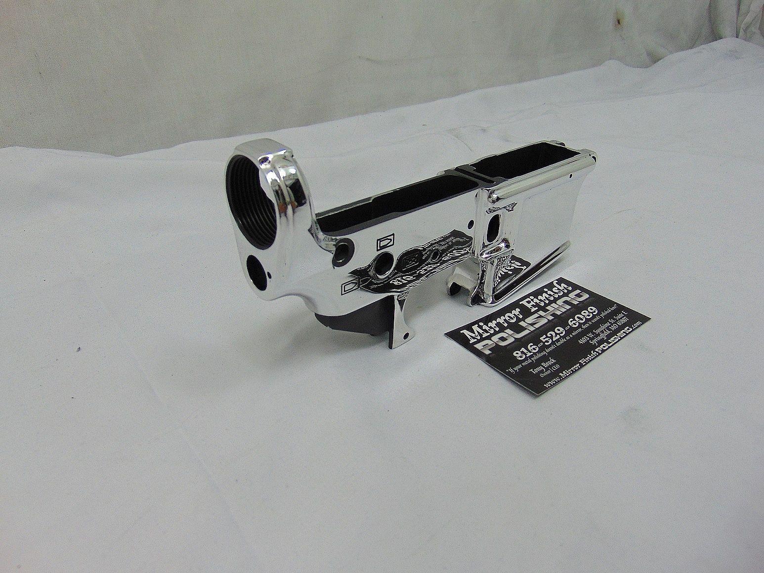 Aluminum AR-15 Lower Receiver AFTER Aluminum Polishing - Gun