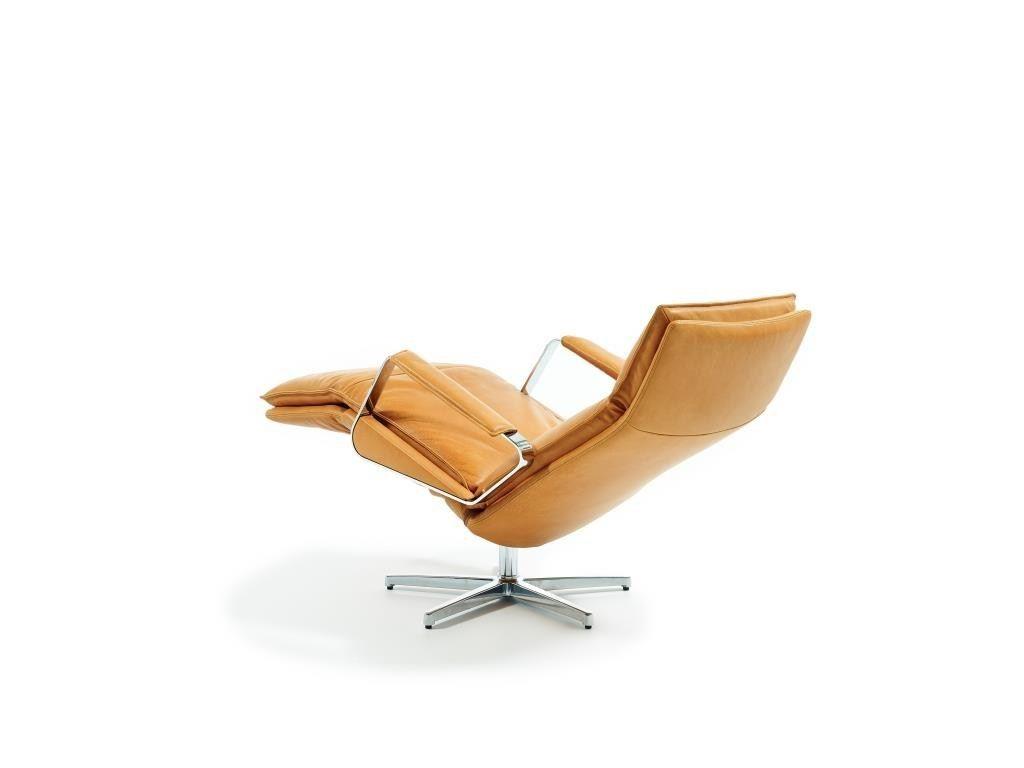 Gepolsterter verstellbarer Sessel aus Leder LARGO by Durlet Design Kai Stania