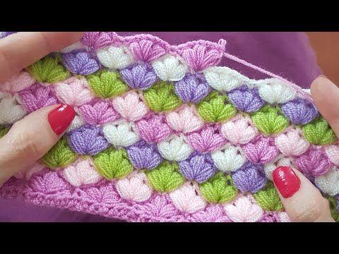 Puff Stitch Crochet Blanket Easy To Make