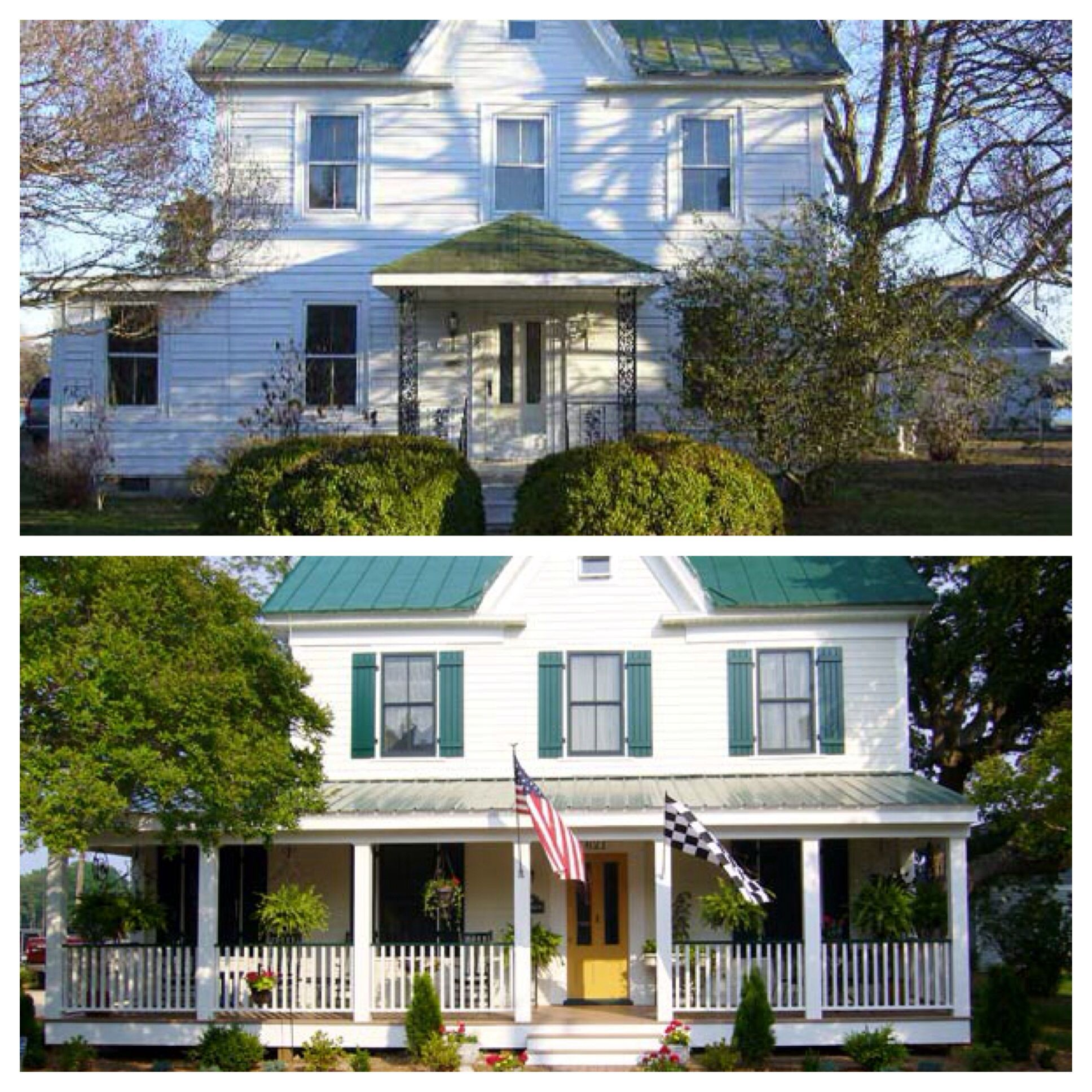 Curb Appeal Before And After Add Wrap Around Porch Add