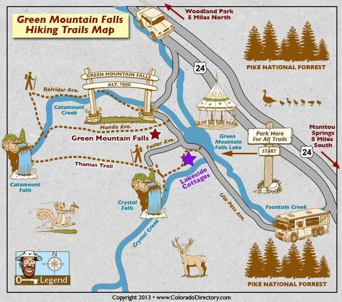 Green Mountain Falls Hiking Trails Map | Colorado Vacation Directory ...
