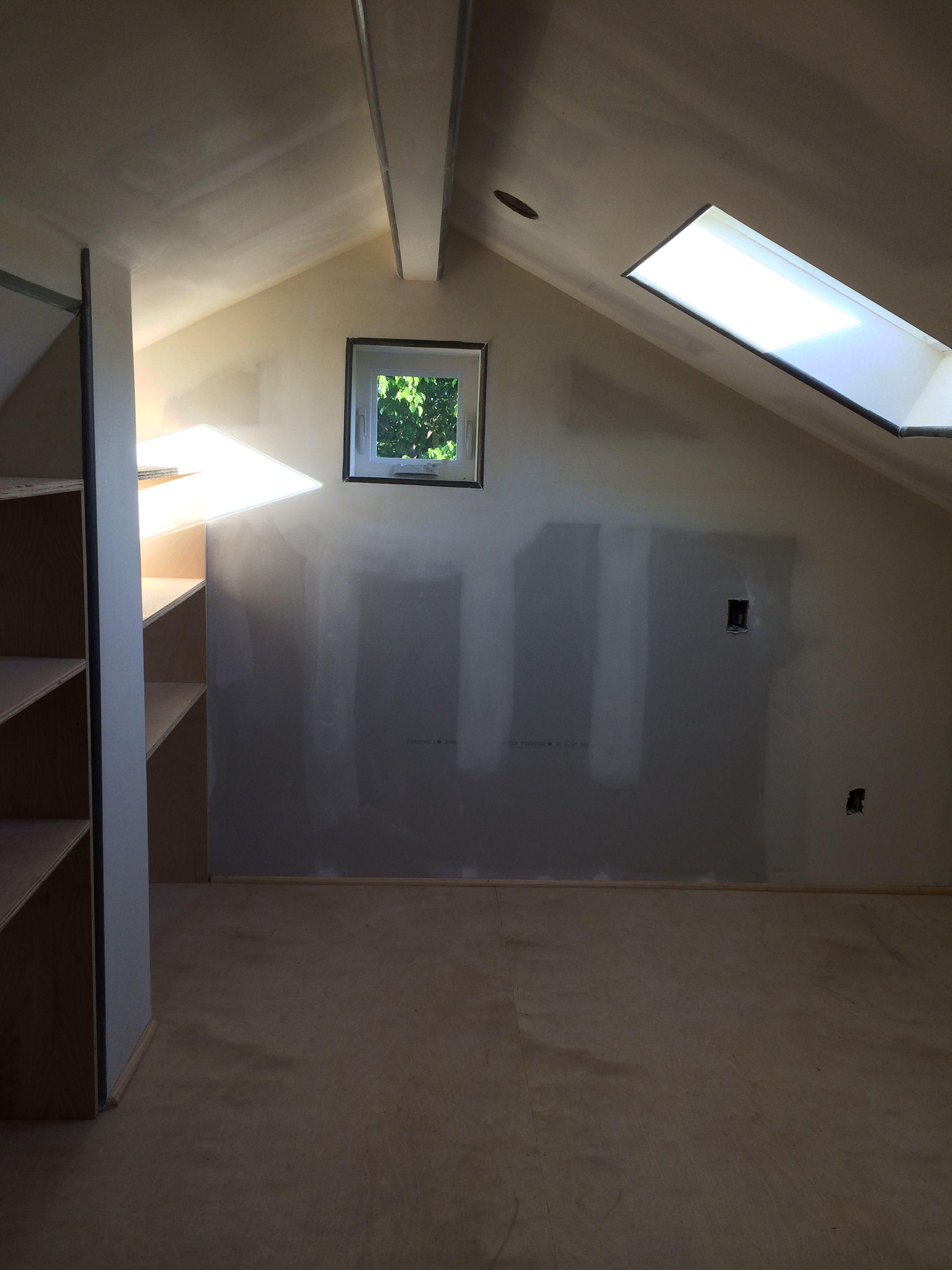 Attic Loft Project 8 Bookshelves And Baseboard Attic Loft Loft Baseboards