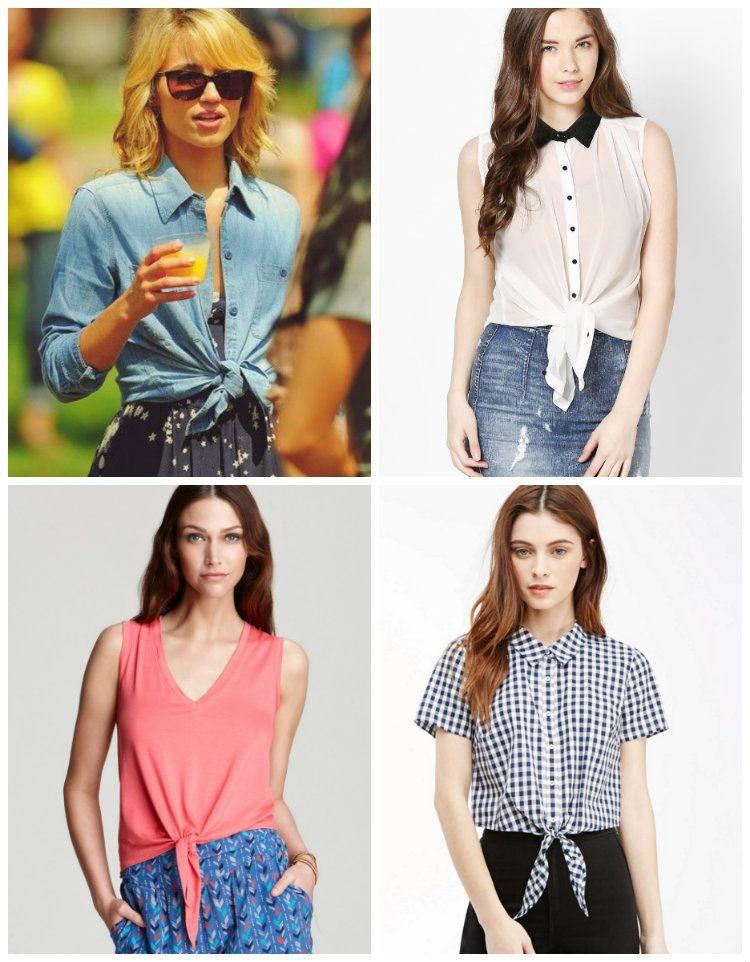 Quer aprender um jeito simples e rápido de dar uma cara nova as suas tshirts? Camisa com nózinho. Pegue as duas pontas da blusa, amarre e pronto.