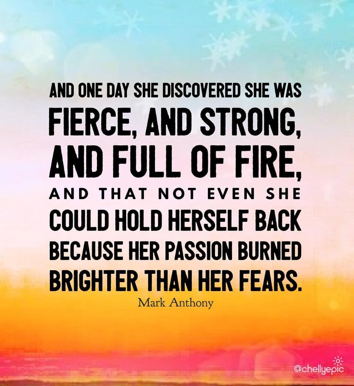 Risultati immagini per and one day she discovered that she was fierce