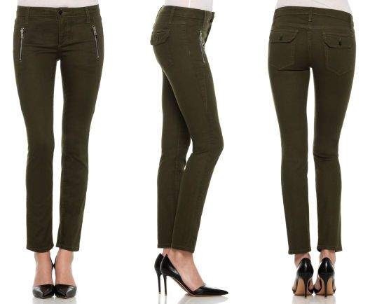 Oblique Zip Skinny Ankle - joe's jeans