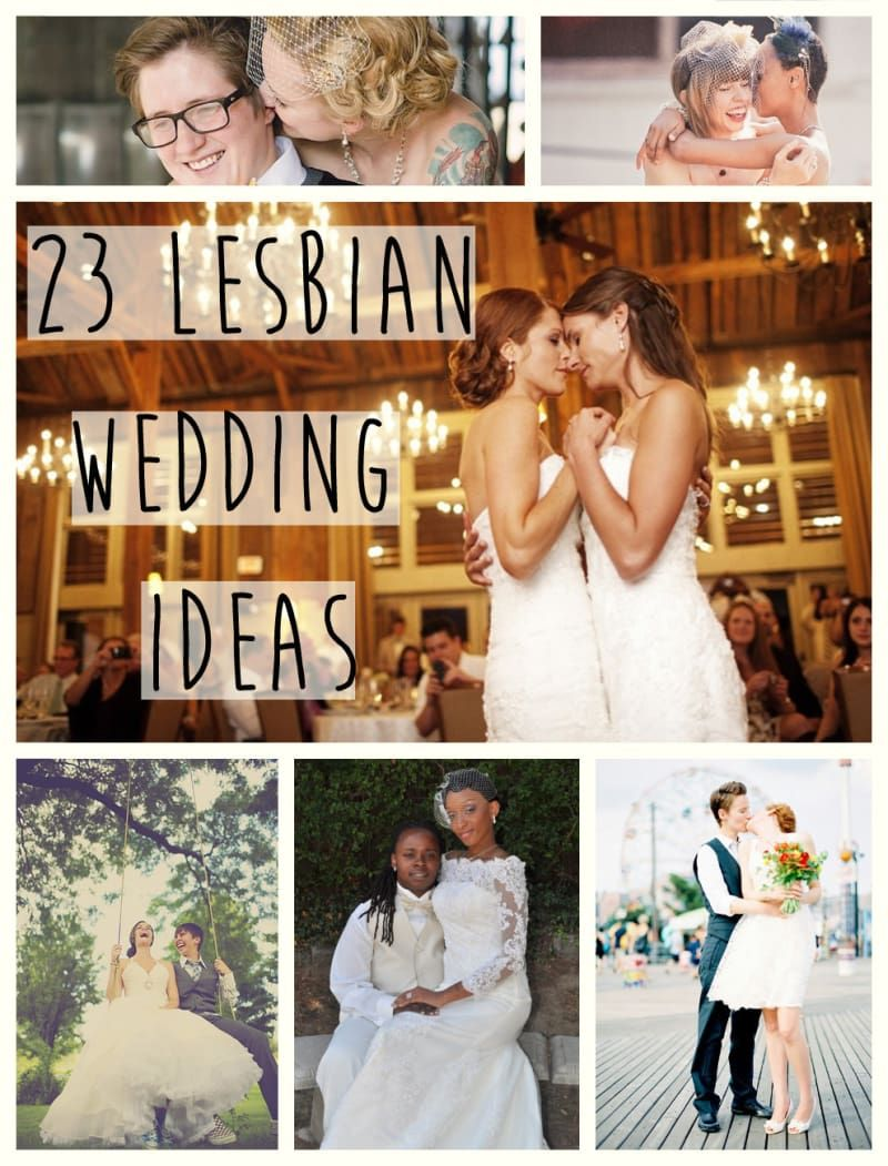 bridesmaid Lesbian bride and