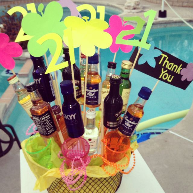 Alcohol Basket for 21st Bday!