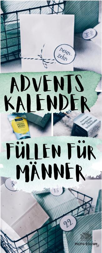 Adventskalender füllen - besondere Ideen auch für Männer #weihnachtsgeschenkeselbermachen
