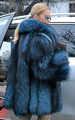 BLUE ROYAL SAGA SILVER FOX FUR JACKET COAT LIKE SABLE MINK CHINCHILLA LYNX