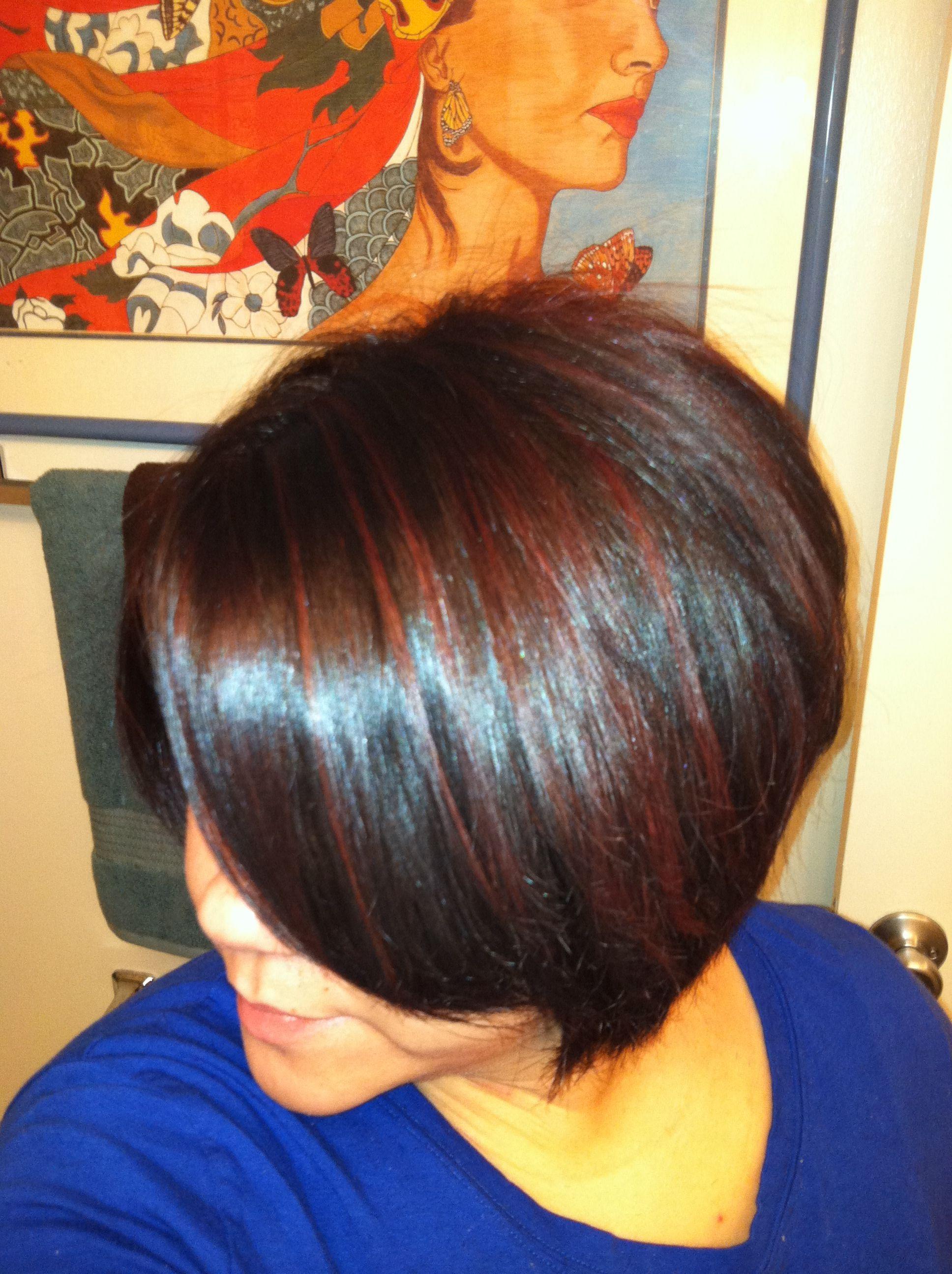 Red highlights mari carmen garcia diaz hair pinterest red