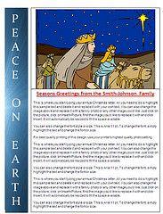 Free Christmas Letter Templates Christmas Lettering Christmas Letter Template Christmas Card Template