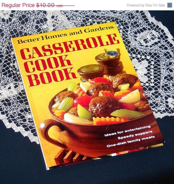 10 off sale vintage 1968 casserole cook book better home - Better homes and gardens cookbook 1968 ...