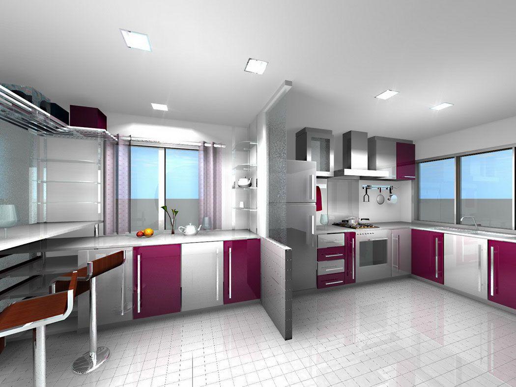 The most popular Modern Kitchen Colors is white kitchen. | kitchen ...