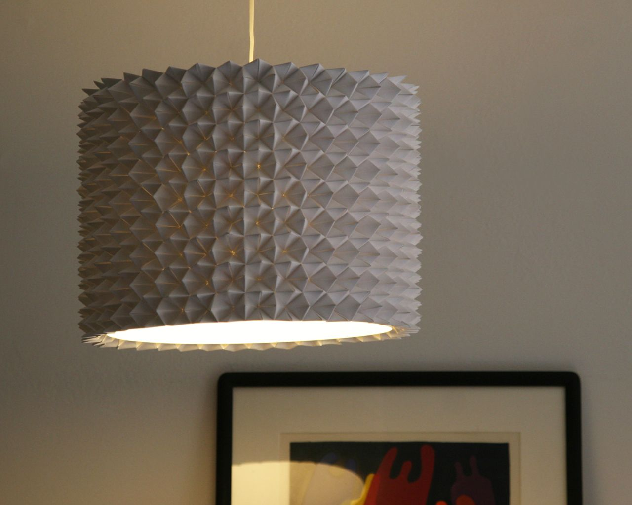 Delightful Faceted Pendant Lights U2013 The Large Drum Shade