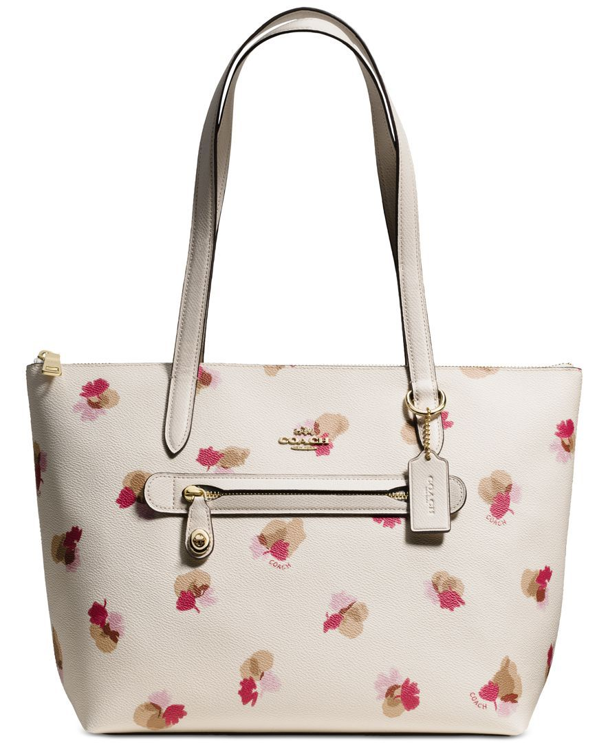 Coach Taylor Tote In Floral Print Coated Canvas Tote Bag Tote