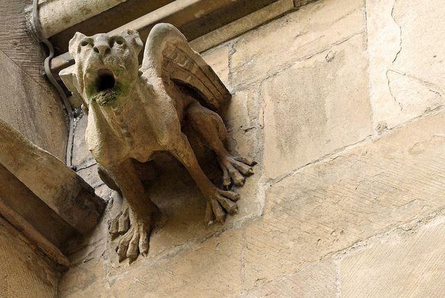 Gargoyle outside Chapel, St John's College, Cambridge.