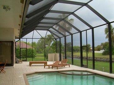 Florida Screen Enclosure For Small Yard Screen Patio Pool Enclosure Photos Tropical Pool Miami By Screened In Patio Enclosed Patio Patio Addition