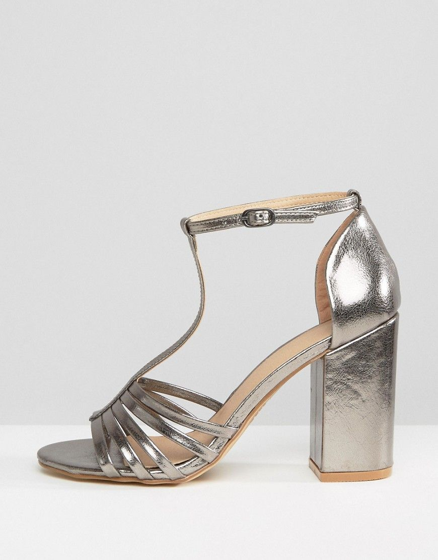 cc742902c54 New Look Metallic Caged Block Heeled Sandal - Silver. Find this Pin and  more on Prom Shoes ...