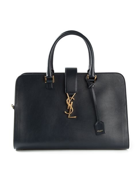 Shop Saint Laurent medium 'Cabas Monogram' tote in Gaudenzi from the world's best independent boutiques at farfetch.com. Shop 300 boutiques at one address.