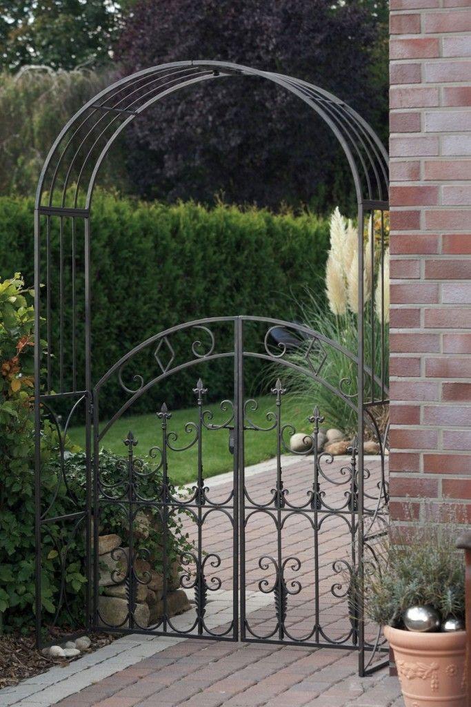 Rosenbogen Mit Tor Metall Spalier Rankhilfe 220 X 130 X 4 Kaufen Rosenbogen Gartengestaltung Gartentore