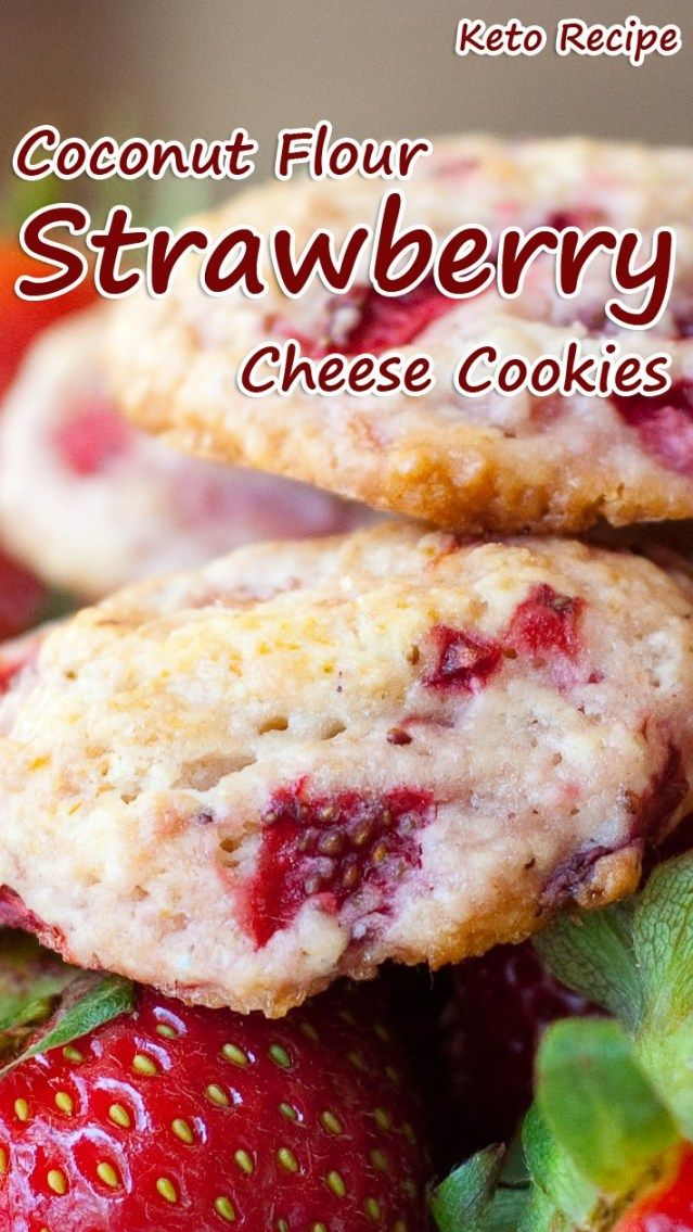 Coconut Flour Strawberry Cheese Cookies Sweets Vegan