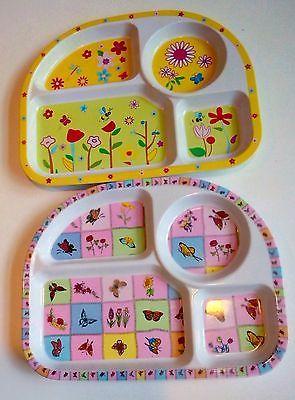 Childu0027s Plates Divided (Lot of 2) Melamine Divided Dishwasher Safe  sc 1 st  Pinterest & Childu0027s Plates Divided (Lot of 2) Melamine Divided Dishwasher Safe ...