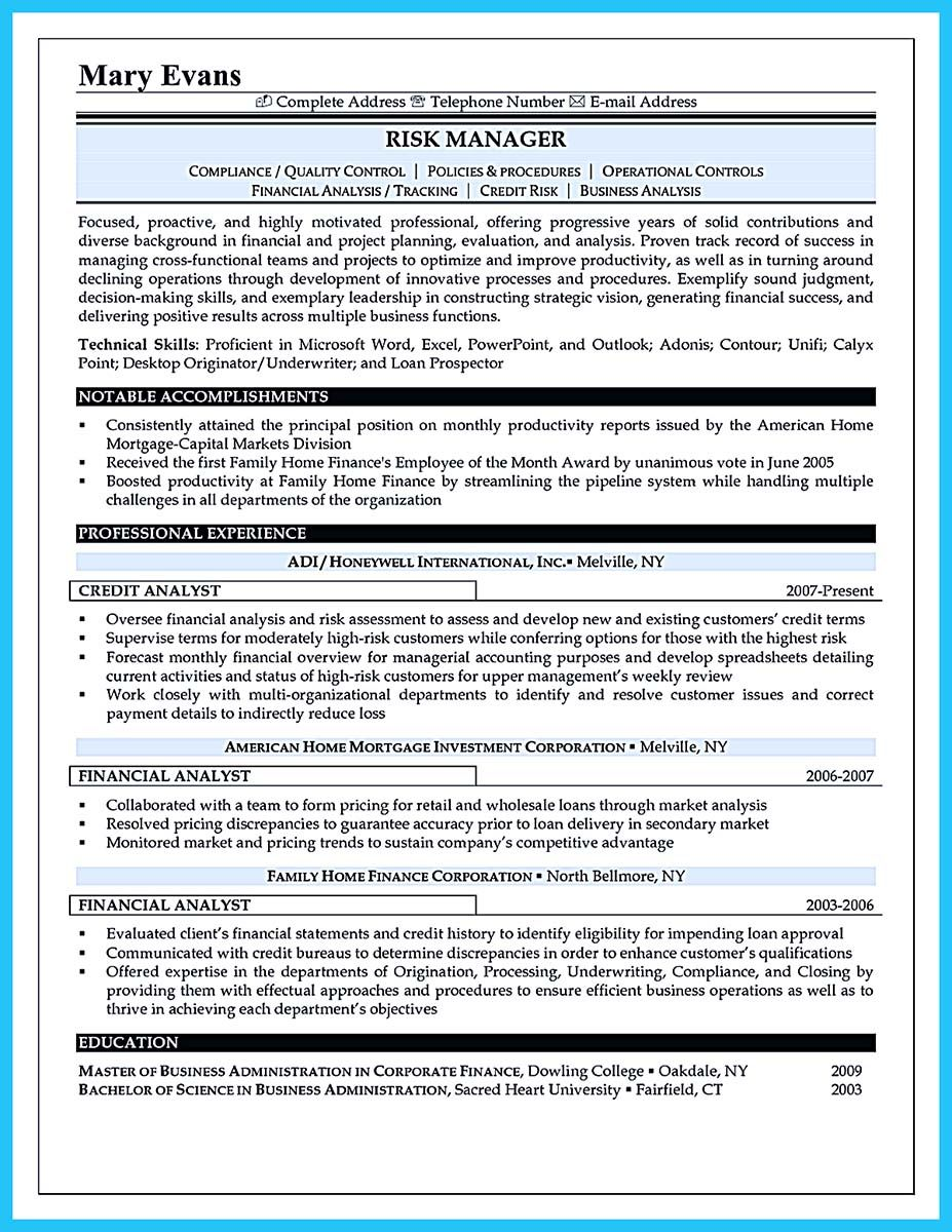 Nice Cool Credit Analyst Resume Example From Professional Resume