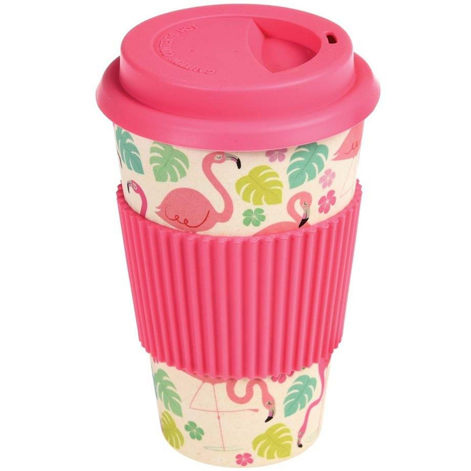 Kaffeebecher Bambus Flamingo Coffee To Go Pink Flamingos Von Rex