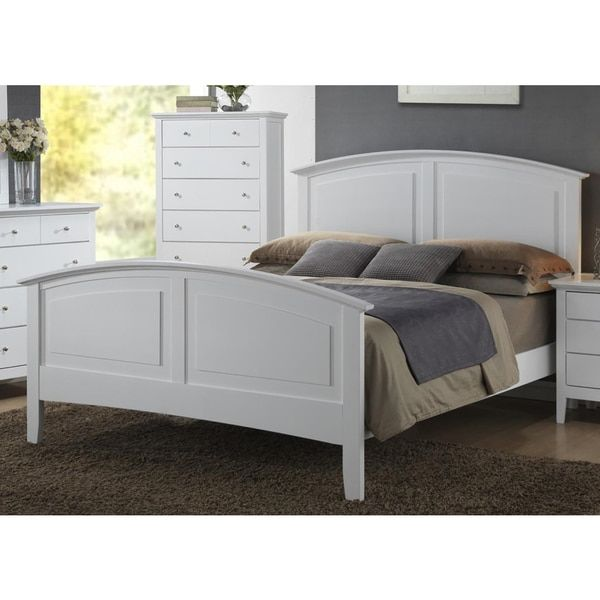 Contemporary Whiskey White Finish 1pc Full Size Bed For