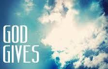 God Gives - http://blog.peacebewithu.com/god-gives/