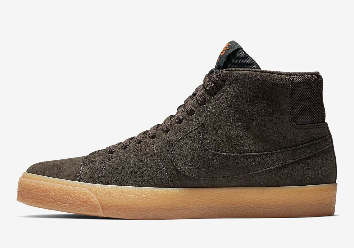 904d6bf3 The Nike SB Blazer Mid Appears In Brown Suede And Gum Soles | Shoes ...