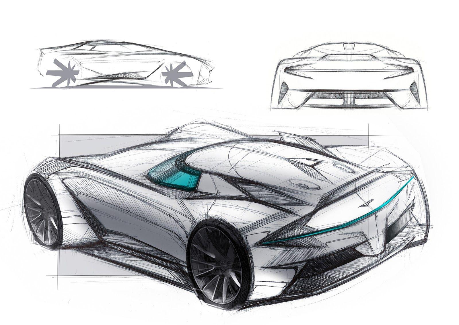 Aston Martin Vision 8 Is A Futuristic V8 Vantage Car Sketches