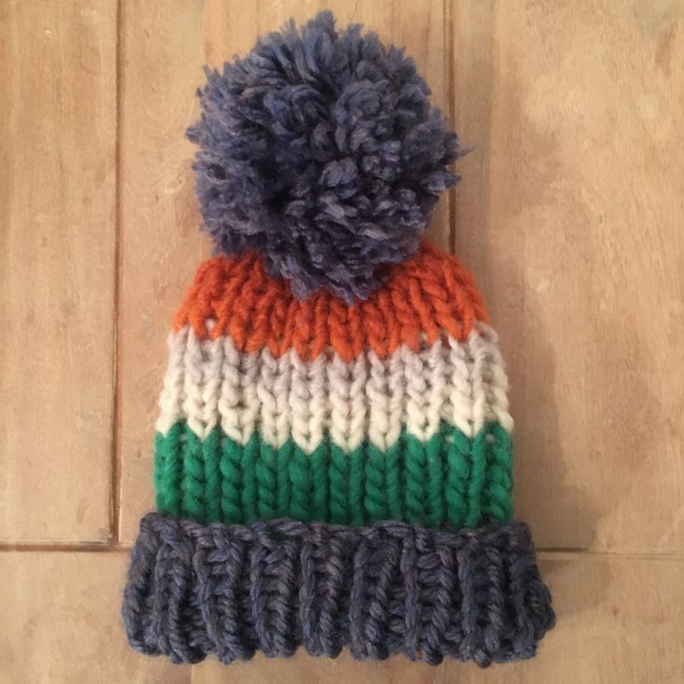 The Hardy Beanie - ribbed pattern adult bobble hat (With ...