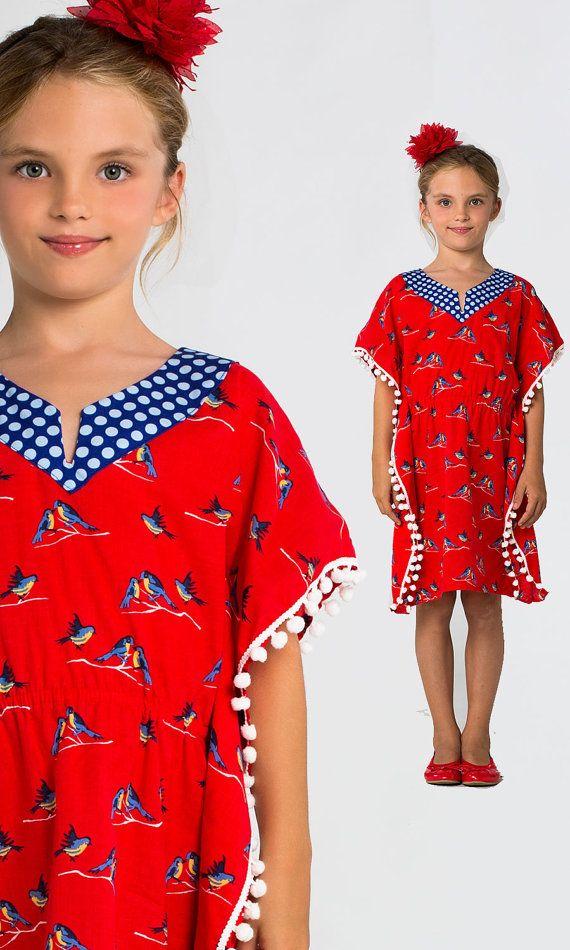 Girls Kaftan Pattern PDF, Dress Pattern, Childrens Sewing Pattern ...