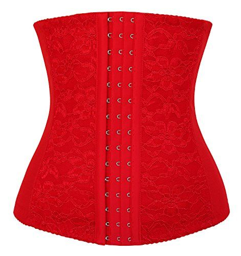 f5270c03f66 Charmian Women Lace Underbust Waist Training Steel Boned Shapewear Corset  Red XXXXXXLarge About Material 90%