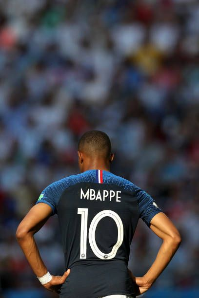 sports shoes 9e05f b9fab Kylian Mbappe of France looks on during the 2018 FIFA World ...