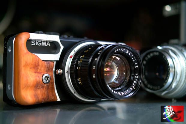 Modded Sigma DP, fitted with a Leica M-Mount.