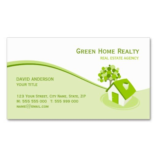 Real Estate Environment Sustainable Business Card Sustainable Business Real Estate Business