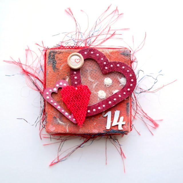Mini Heart Canvas by Dana Tatar for Tando Creative