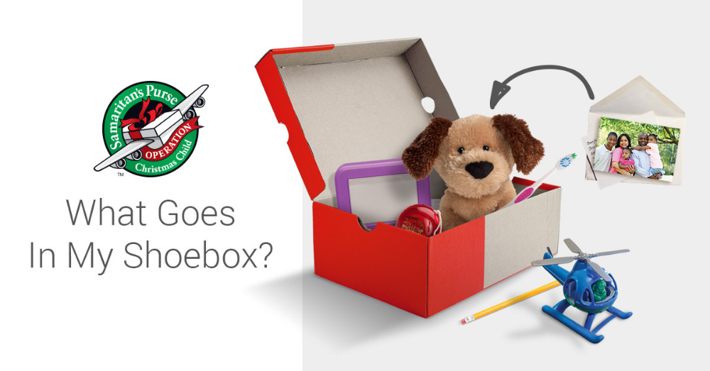 Official Shoebox Gift Suggestions Operation christmas