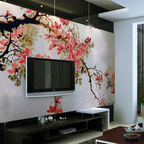 die Dekoration der Wnde mit Farbe  Wand  Pinterest  Wohnzimmer Tapeten und Tapeten wohnzimmer