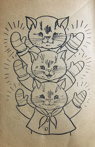 Colouring Pictures Of Three Little Kittens Who Lost Their Mittens